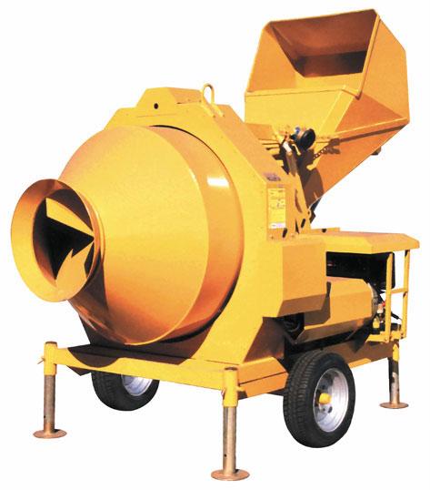 Self Loading Reverse Drum Concrete Mixers Bir 330 1000